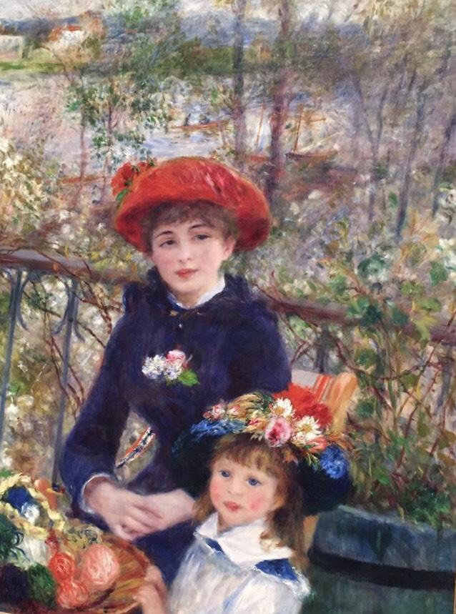 Dos hermanas (en la terraza) de Renoir