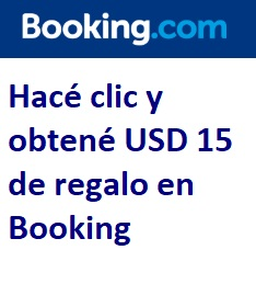 USD 15 de regalo en Booking